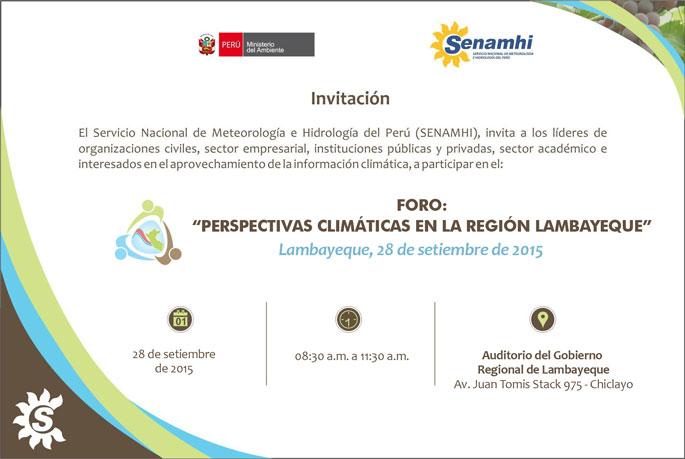 FORO: Perspectivas climáticas en la Región Lambayeque