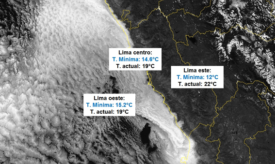 Figura: Imagen de satélite GOES 16: Canal Visible